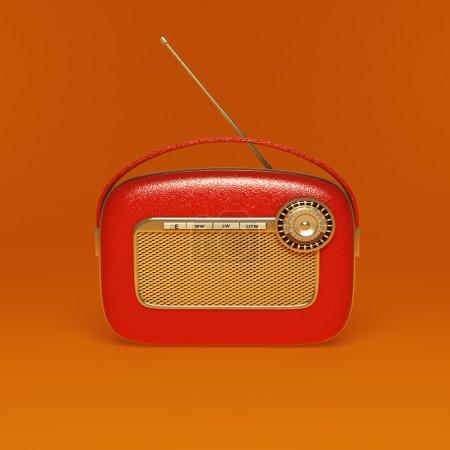 Photo pour Détail d'une radio vintage avec cadrans - image libre de droit