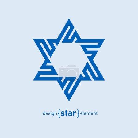 Blue David star