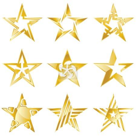 Gold stars original logos