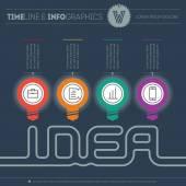 Creative idea infographic background