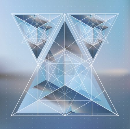 Pyramid, triangles abstract background