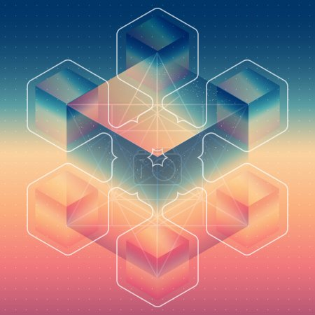Abstract isometric cubes