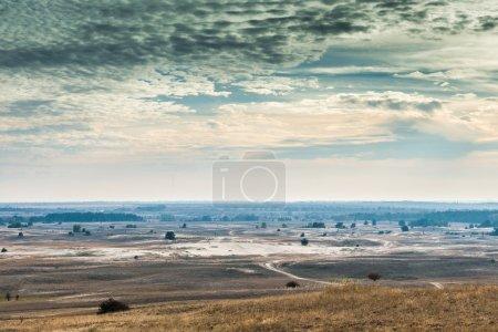 Scenic view of Kharkov desert in autumn, Ukraine...