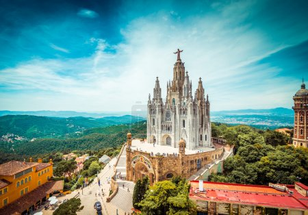 Tibidabo church  in Barcelona