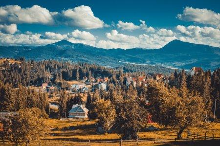 landscape in mountains Karpaty
