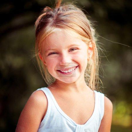 Happy cute little girl