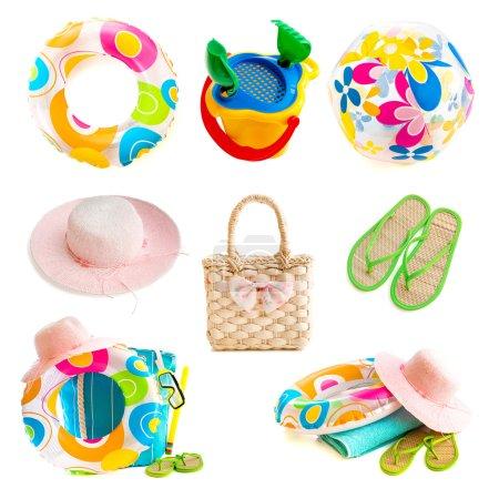 Photo collage beach accessories