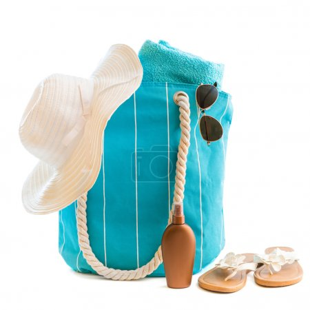 Bag with beach accessories