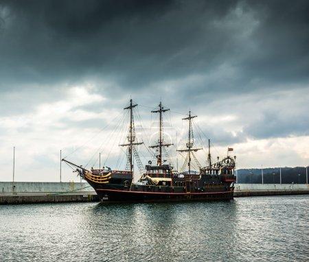 Pirate tourist ship in Sopot