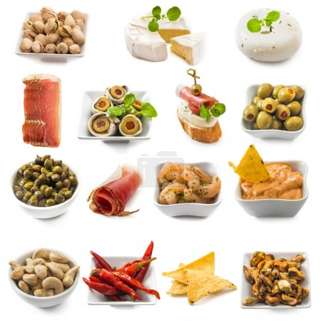 Photo collage of spanish tapas