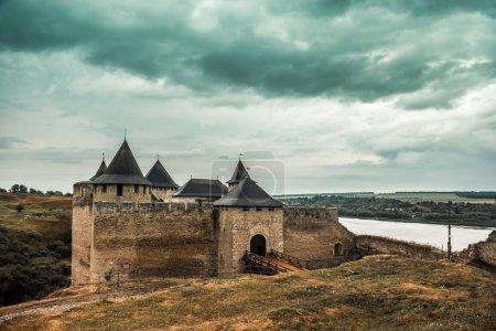 view on Ukrainian Khotyn Fortress