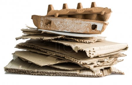 wastepaper heap isolated