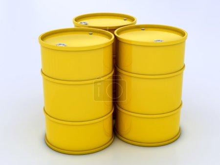 Chemical yellow barrels