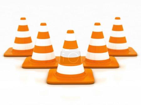 Orange highway traffic cone