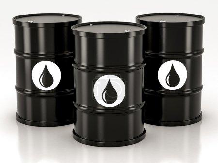 black metal barrels