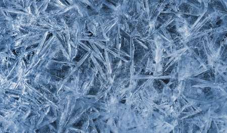 Texture of natural ice pattern