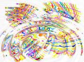 Abstraktní barevné skvrny a čar vlnky pozadí