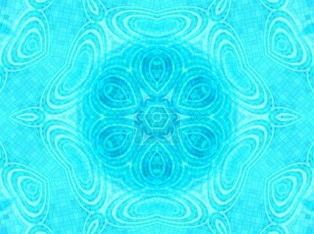 Photo pour Fond de tuiles bleues lumineuses avec de l'eau concentrique ripples modèle - image libre de droit