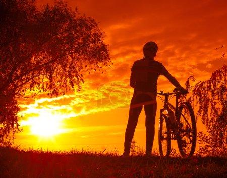 Man with mountain bike