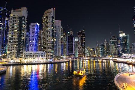 Dubai marina in summer night