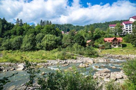 Mountain river Prut in Yaremche