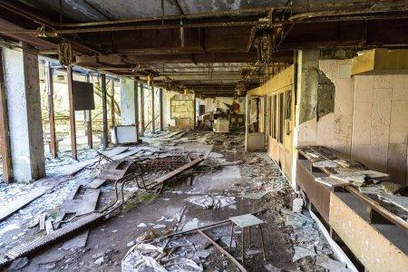 Photo for Abandoned city Pripyat, Chernobyl region, Ukraine in a summer day - Royalty Free Image