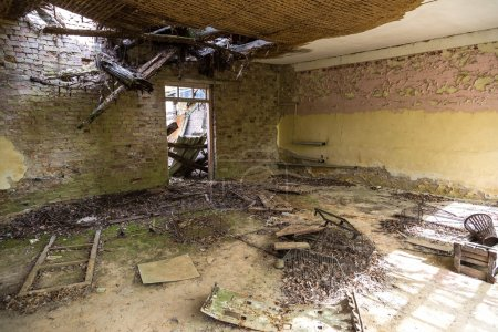 Abandoned village in Chernobyl