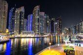 "Постер, картина, фотообои ""Дубай-Марина в летнюю ночь,"""