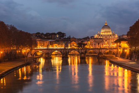 Vatican and river Tiber