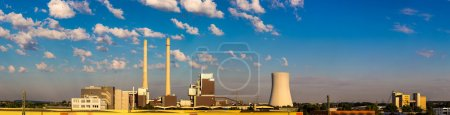 Photo for Huge Power station in Germany in summer day - Royalty Free Image