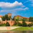 The Wawel castle in Kracow. Panoramic view...