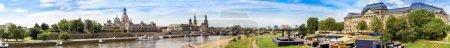Foto de Vista panorámica de Dresden en un día hermoso de verano - Imagen libre de derechos