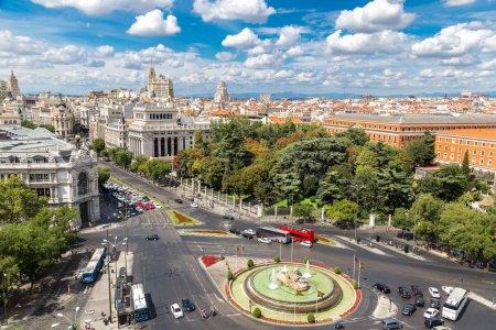 Plaza de Cibeles with fountain in Madrid