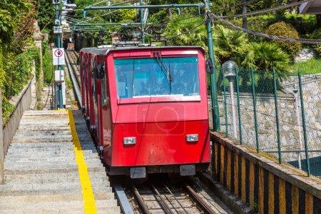 Red Funicular in Genoa