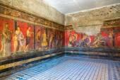 """Постер, картина, фотообои """"Окрашенные стены в городе Помпеи"""""""
