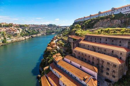 Aerial view of Porto in Portugal