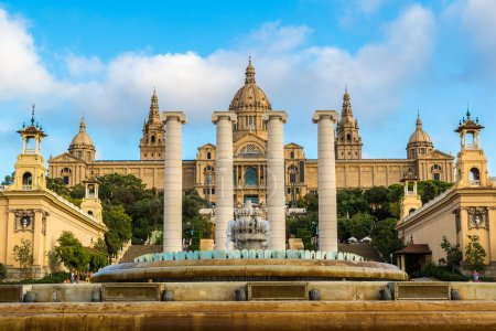Placa de Ispania (The National Museum) in Barcelon...