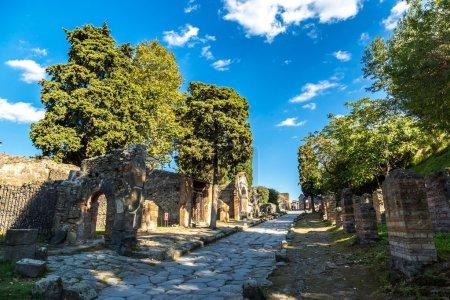 destroyed Pompeii city in Italy