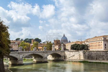Sant angelo bridge in Rome