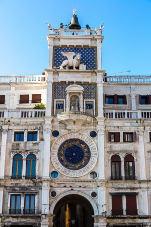 Astronomical clock tower in Venice