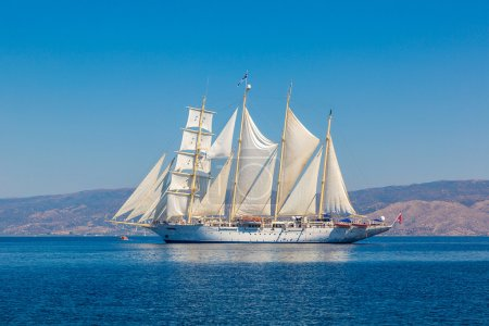 Sailing ship in summer day