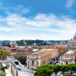 Panorama of Rome and Basilica of St. Peter in a su...
