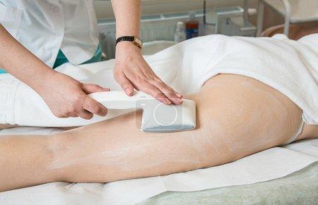 Vacuum massage in beauty clinic