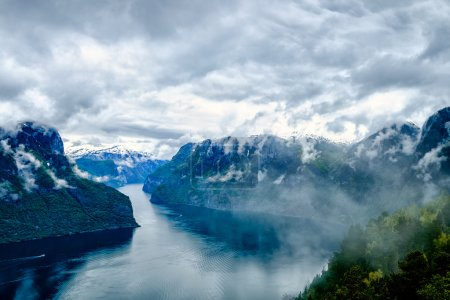 Beautiful Hardanger fjorden Nature Norway.