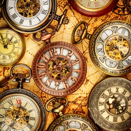 Photo for Vintage Antique pocket watch. - Royalty Free Image