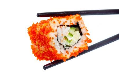 Photo pour Sushi (California Roll) sur fond blanc - image libre de droit
