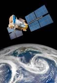 Weltraum-Satelliten über den Planetenerde