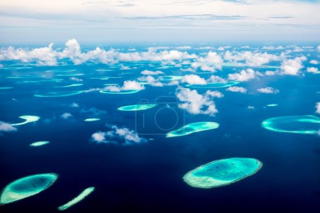 Hotel on the island. Maldives