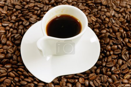 Photo for Cup of coffee on beans - Royalty Free Image