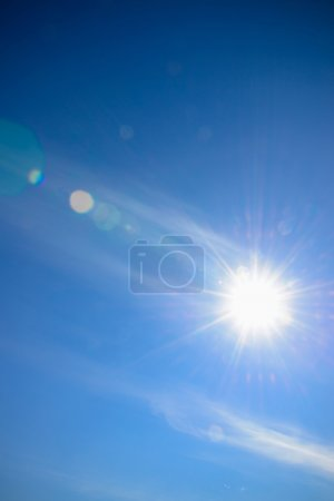 sky with lens flare